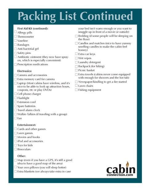 Things To Bring Cing In A Cabin cabin trip packing list page 2 wanderlust