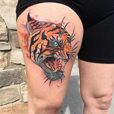 quarter sleeve tiger tattoo 50 stunning tiger head tattoo design ideas 2018