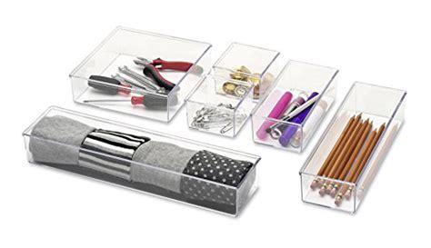 whitmor 3 section drawer organizer whitmor 6789 4952 clear drawer organizers set of 6