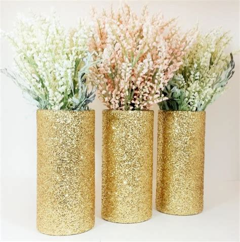 Flower Ideas Gold Wedding by Wedding Centerpiece Gold Wedding Decor Cylinder Vase