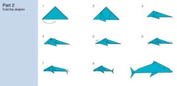 Challenge how to fold an origami dolphin s e a aquarium