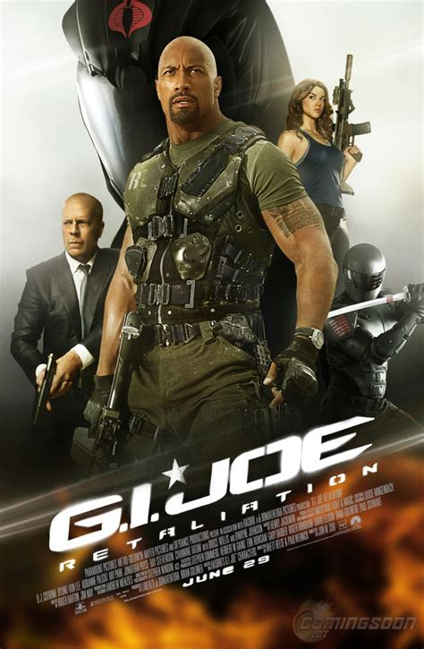 film action dwayne johnson g i joe 2 sequel retaliation posters collider