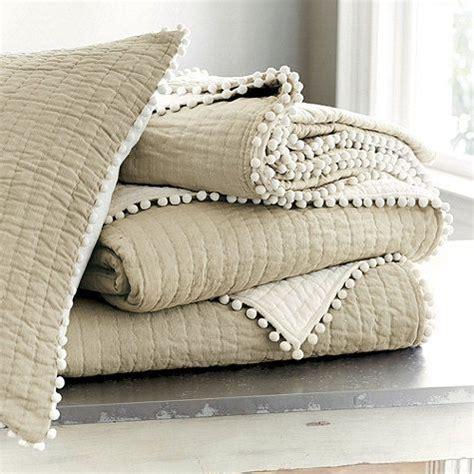 pom pom bedding audree pom pom quilt bedding natural boy ideas items