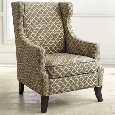 Slipcovers For Wingback Chairs Alec Gray Trellis Wing Chair Pier 1 Imports