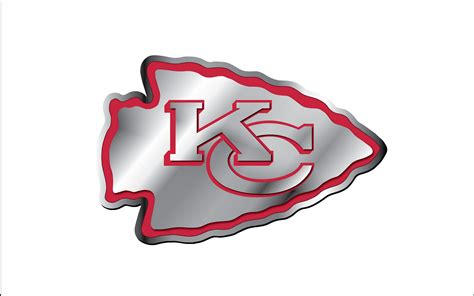 kansas city chiefs logo aluminium white backround