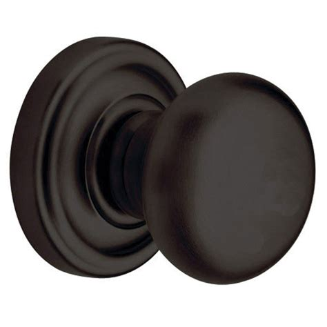 Bronze Door Knobs Shop Baldwin Classic Rubbed Bronze Dummy Door Knob At