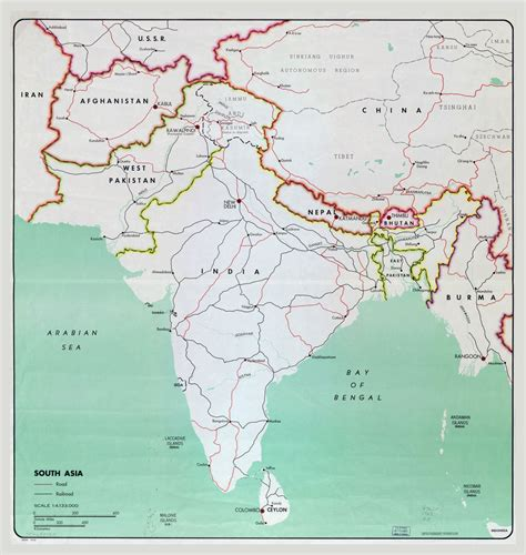 asia map with cities large map of south asia with major cities roads and