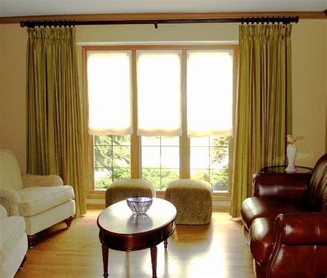 livingroom window treatments ready made sheer shades window treatments design ideas