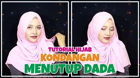 youtube tutorial hijab kondangan tutorial hijab kondangan menutup dada pashmina sifon