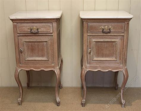 pair of french limed oak bedside cabinets antiques atlas
