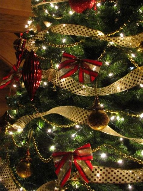 gold ribbons on christmas trees 128 best and gold images on diy decorations deco