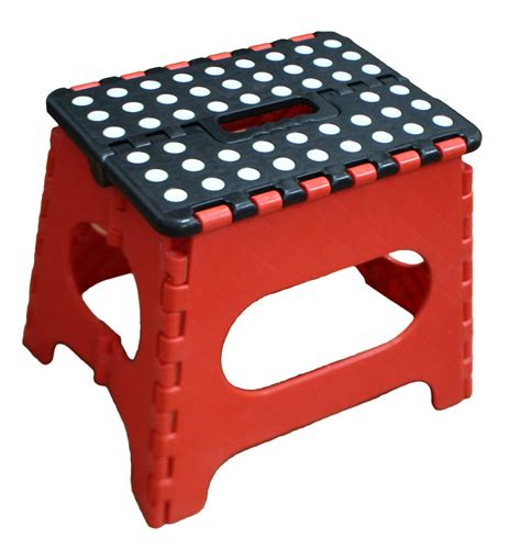Jeronic Folding Step Stool by Acko Folding Step Stool 13 Inch Height