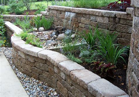 garden wall water features garden inspiration