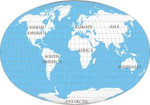 World Continents Map by Seven Continental World Map Maps Sharing Share Your