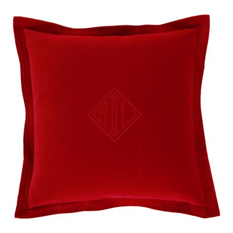 red cusions ralph lauren home velvet red cushion cover 50x50cm