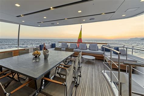 yacht upper deck luxury yacht takara ready for charter in the western