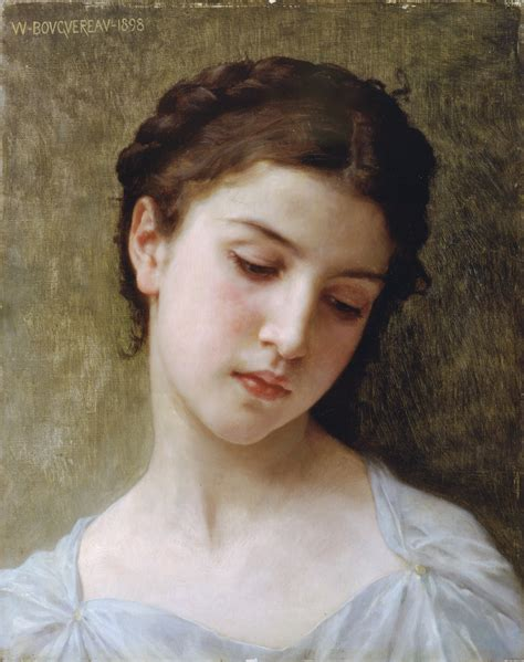 William Adolphe Bouguereau Young Girl | head of a young girl william adolphe bouguereau