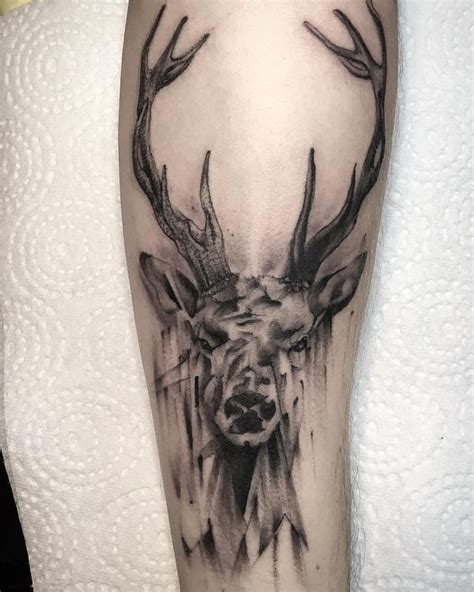 black and grey deer tattoo deer tattoos designs meaning and symbolism