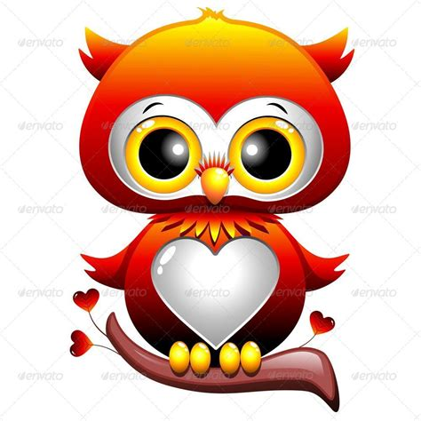 owl item baby owl love heart cartoon by bluedarkat graphicriver