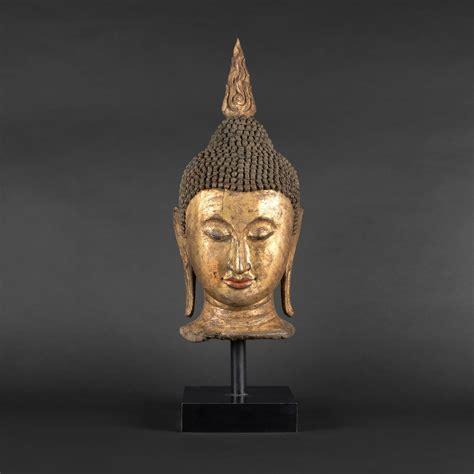 Tete De Bouddha En by T 234 Te De Bouddha Tha 239 Lande Xviiie Si 232 Cle 2016010184