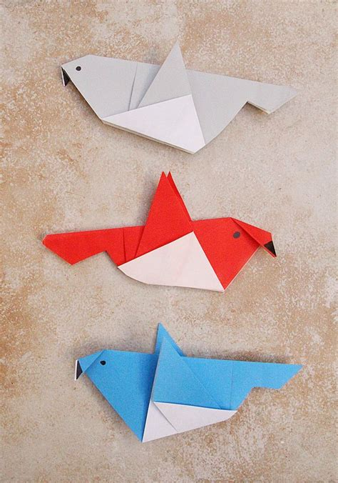 Folded Paper Birds - 1254 best images about paper diy on papier