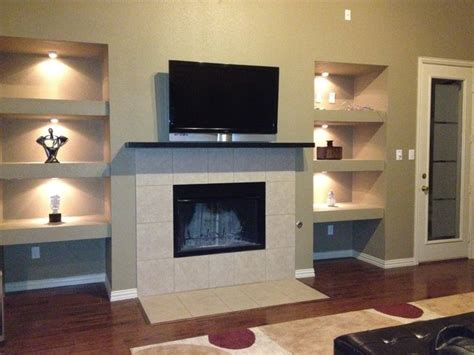 Drywall Shelf by Built In Drywall Shelves And Lights Added In Empty Niche