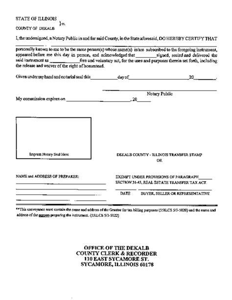 Warranty Deed Template Illinois Free Download Contract For Deed Template Illinois
