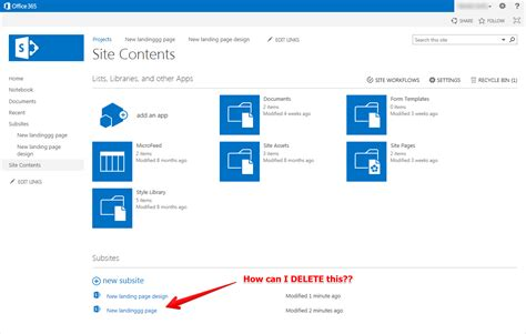Office 365 Sharepoint Sharepoint Use Cases Deleting A Sharepoint Subsite In