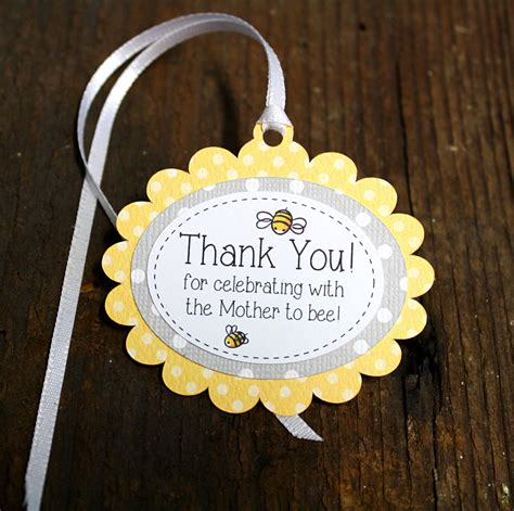 personalized tags bumble bee themed baby shower tag personalized gift tags or