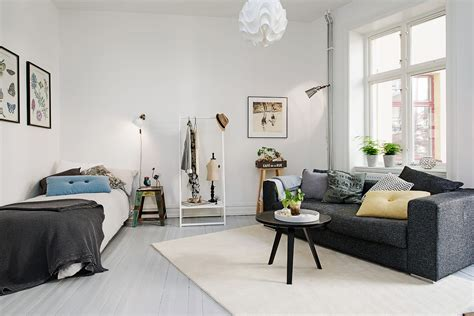 create a living room delightful one room studio apartment in gothenburg