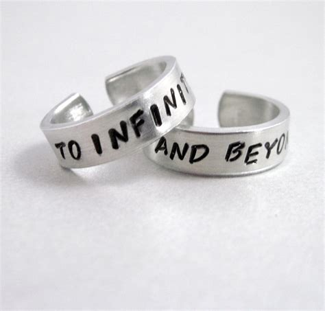 to infinity and beyond set of two rings sted