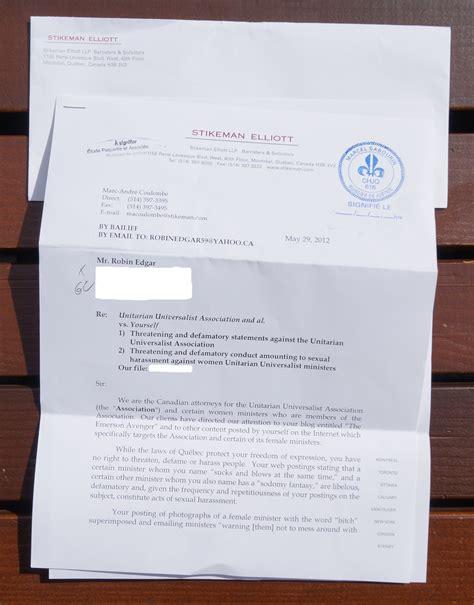 Demand Letter Bp 22 the emerson avenger clergy abuse unitarian