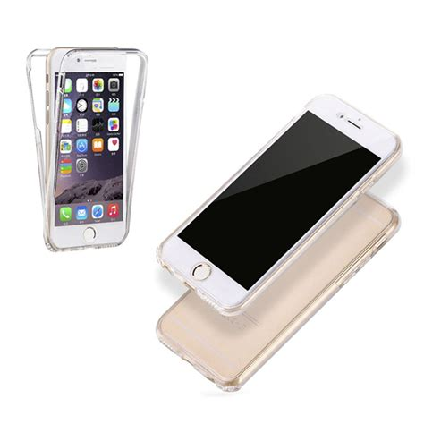 360 Protection Iphone 6 6s 6g Softcase Iphone6 Soft Tpu Transparent 360 Degree Protection Cover