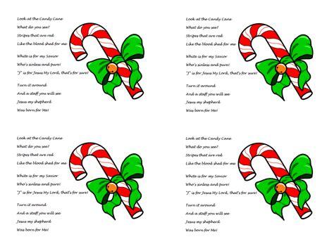 candy cane poem  jesus  printable  handout