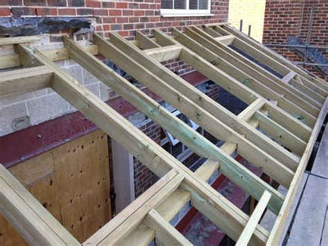 Extension Roof Construction The Mallow House Extension House Extension Roof Is Built