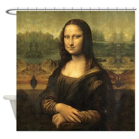 mona lisa shower curtain mona lisa shower curtain by artandornament