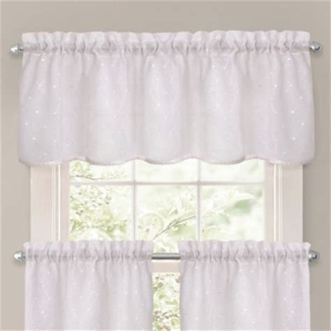 bed bath and beyond oakbrook crystal brook window curtain tier pair and valance in