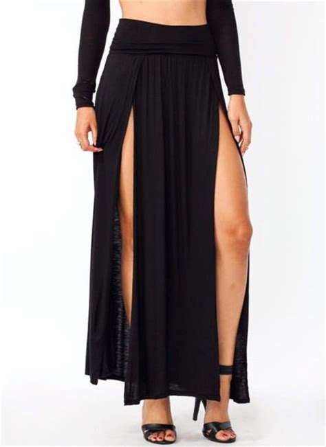 skirt slit skirt maxi skirt maxi pretty