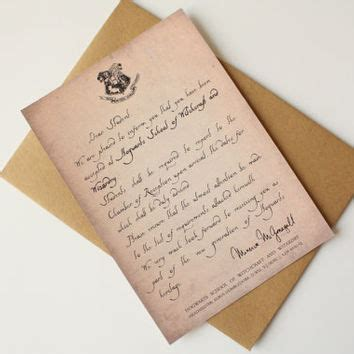 Harry Potter Acceptance Letter Prom Best Hogwarts Acceptance Letter Products On Wanelo