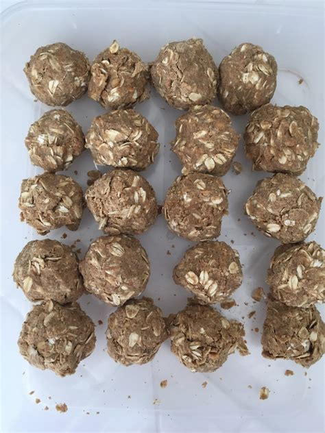 protein oatmeal balls oatmeal peanut butter protein balls fitness fatale