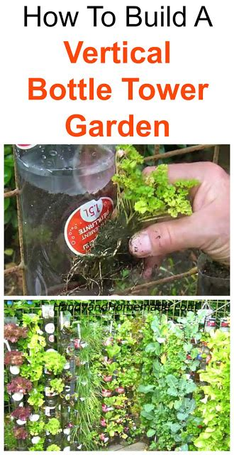 Make A L From A Bottle by How To Build A Vertical Bottle Tower Garden Diy Handy