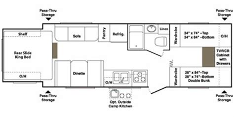 outback cers floor plans 2008 keystone rv outback series m 26 kbrs specs and