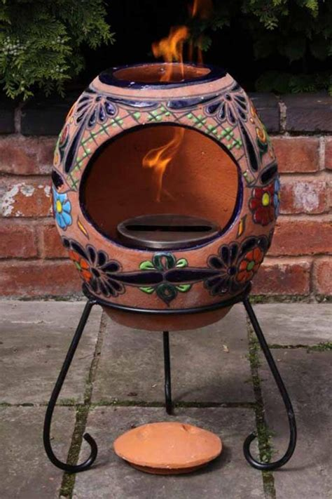 Indoor Chimineas For Sale Clay Chimenea Painted Chiminea Patio Heater Indoor