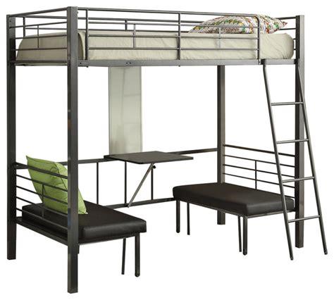 acme furniture hakem loft bed  adjustable seats