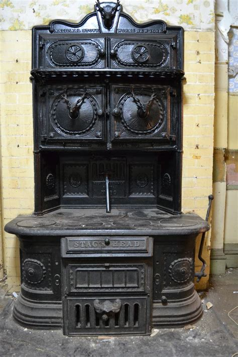 vintage range vintage stag s head cook stove from national stove works