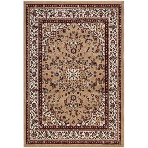 home depot rugs 7 x 10 ottomanson traditional medallion beige 7 ft 10 in x 9 ft 10 in area rug ptr1512 8x10 the