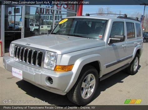 Silver Jeep Commander Bright Silver Metallic 2007 Jeep Commander Sport 4x4