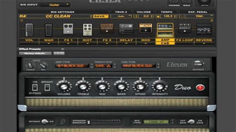 tutorial guitar effects how to use the avid eleven rack 8 twin tone guitar