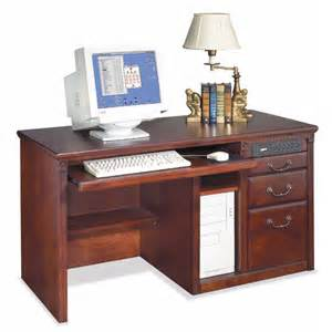 Pedestal Computer Desk Kathy Ireland Home By Martin Furniture Huntington Club