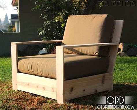 diy plans for your own modern minimal outdoor chairs